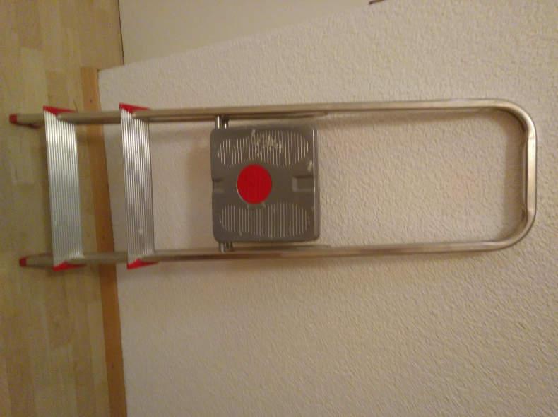 13435 Trittleiter metall, 3 Stufen