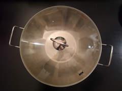13681 Grosser Wok mit Glasdeckel