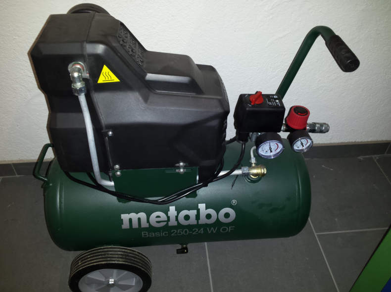 13859 Kompressor Metabo 24L Oelfrei 8 Bar