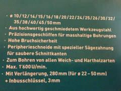 14045 Astlochbohrer Flickzapfenbohrer Set