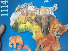 14059 Puzzle Kontur von Afrika