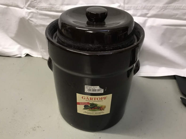 14717 Sauerkrauttopf / Gärtopf 10 Liter