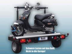 14828 Motorradträger Alu-Star-Rolli