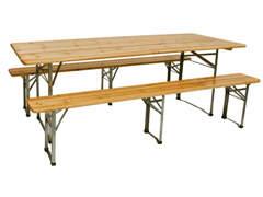 15488 Festbank-Garnitur (Tisch + Bänke)