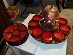 15755 Geschirr für Fondue