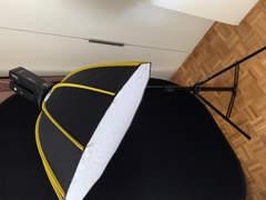 17028 Softbox Set mit Ständer und Blitzen