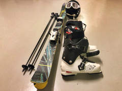 17530 Völkl Freestyle Ski mit Ausrüstung