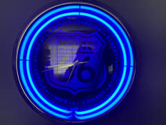 17714 Route 66 Neon licht blau