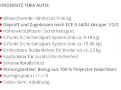 18221 Autokindersitz