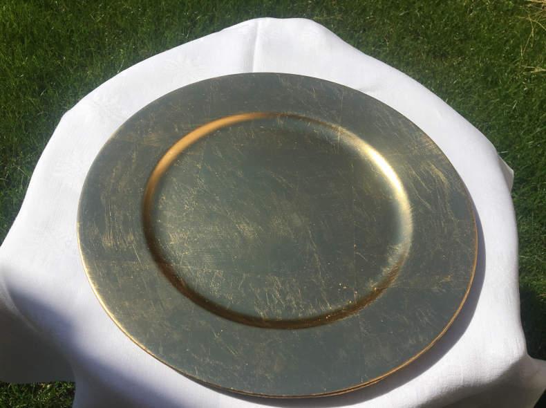 18644 Goldene Platzteller (10 Stück)