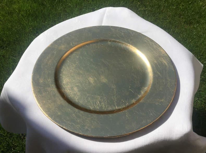 18647 Goldene Platzteller (10 Stück)