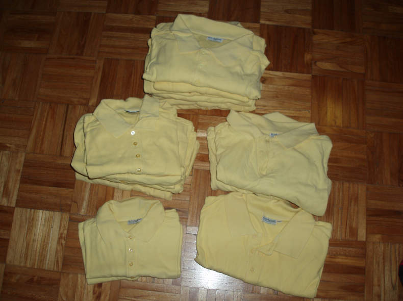 19160 17 Poloshirts hellgelb S bis XXL