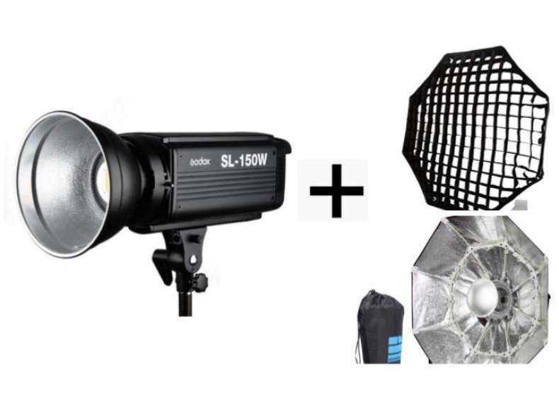 12362 Video LED + Stativ + Softbox + Grid
