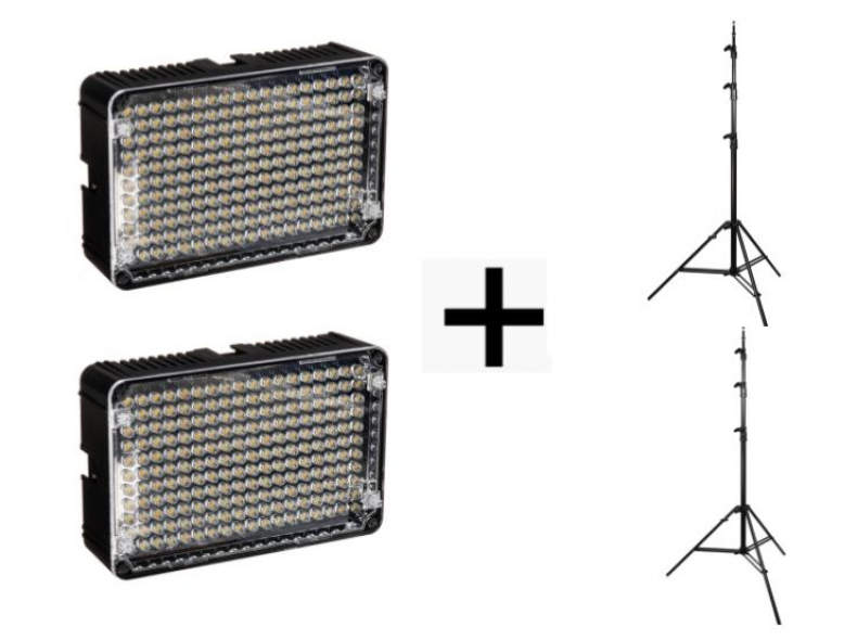 19542 2x LED Licht + Stativ