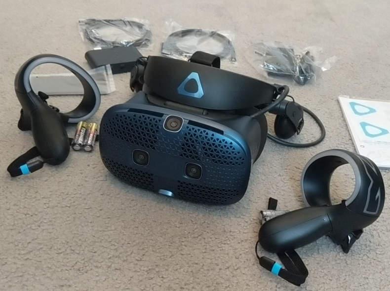 19554 HTC VIVE cosmos VR set + GAMES