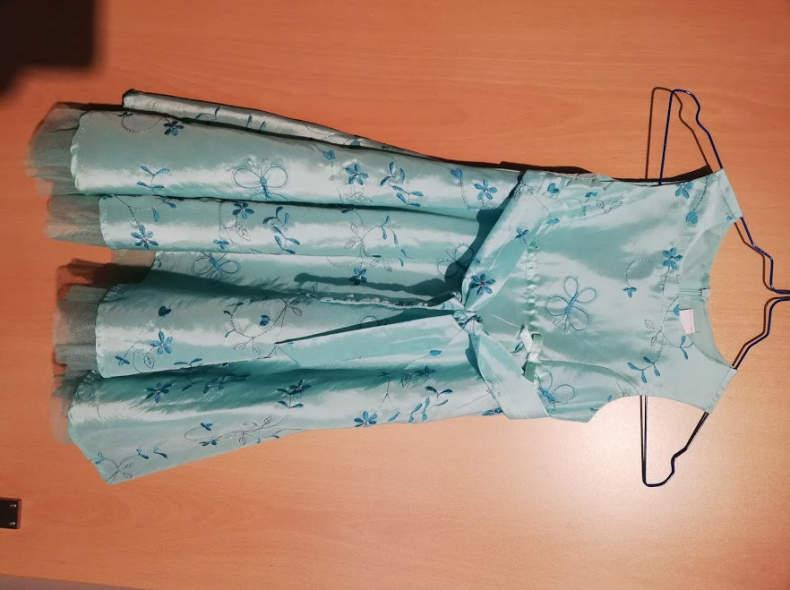 19634 Festliches Kleid Gr 104 für Mädchen