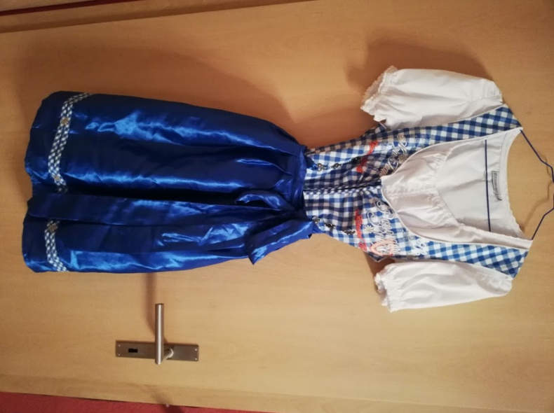 19644 Blaues Dirndl Gr. 40