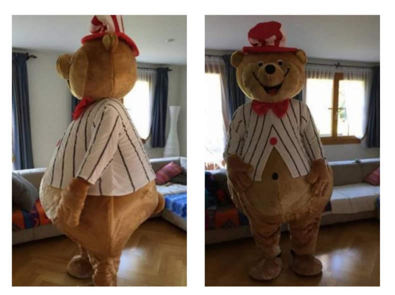 20926 Bär Bärenkostüm Zirkusbär Maskottch