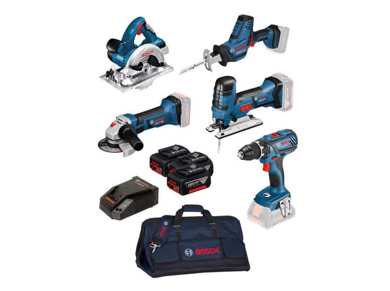 21753 Bosch 5-Tool-Set GSR/GST/GKS/GSA/GW