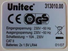 23158 Energiekostenmessgerät Unitec (2)