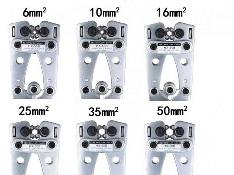 23441 Kabel Crimp Zange 6mm2 - 50mm2