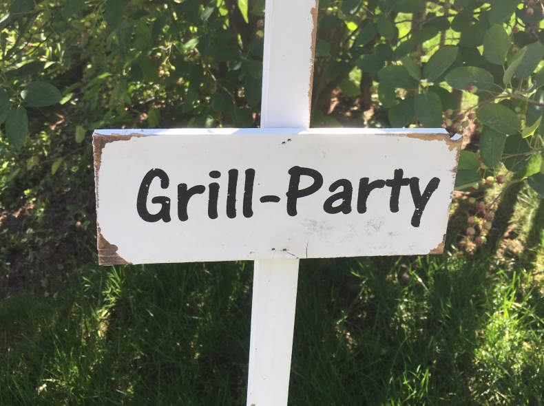 """23680 Wegweiser """"Grill-Party"""""""