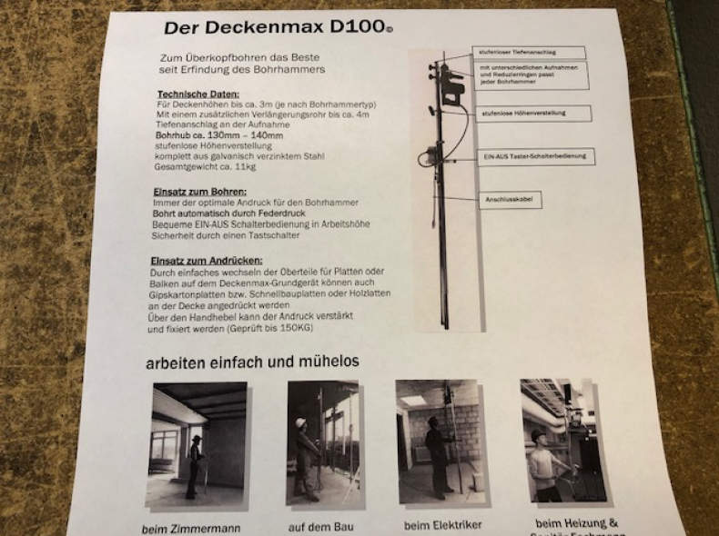24125 Bohrstativ Deckenmax