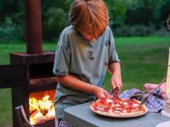 25321 Pizza-Ofen aus Corten-Stahl