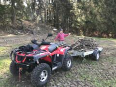 25465 ATV / Quad mit Anhänger