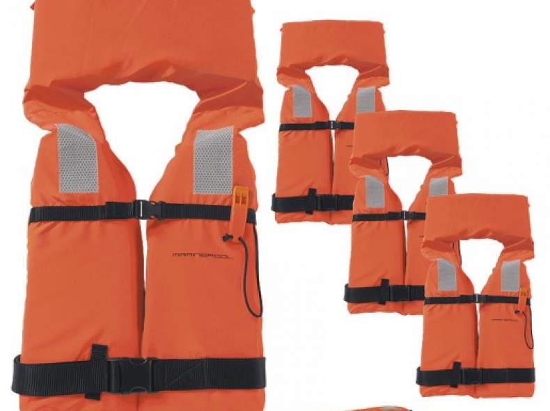 25500 4 Rettungswesten, 100N, 40-90kg