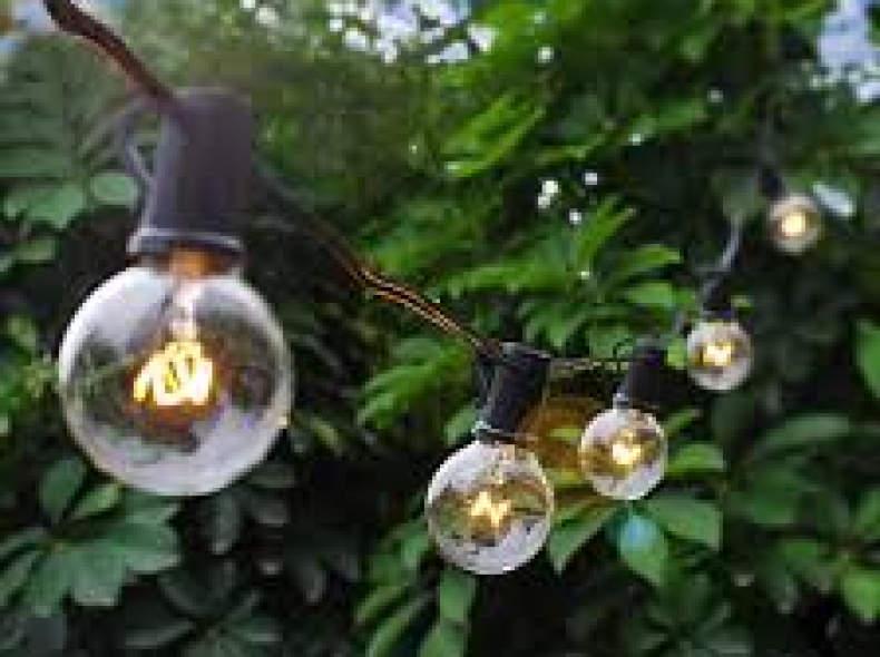 25930 Lichterkette G40, 7.5m, warmweiss