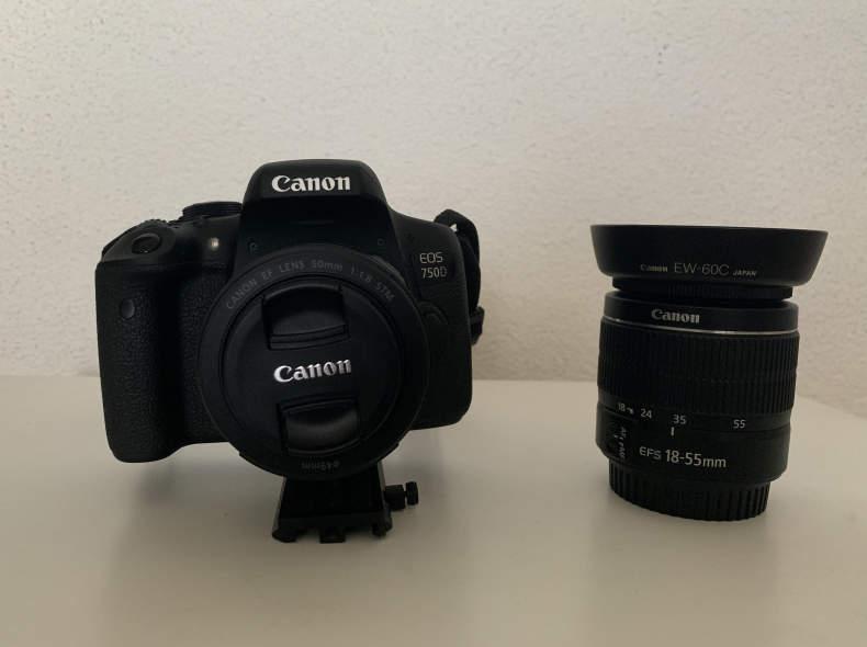 26071 Canon EOS 750D mit 2 Objektiven