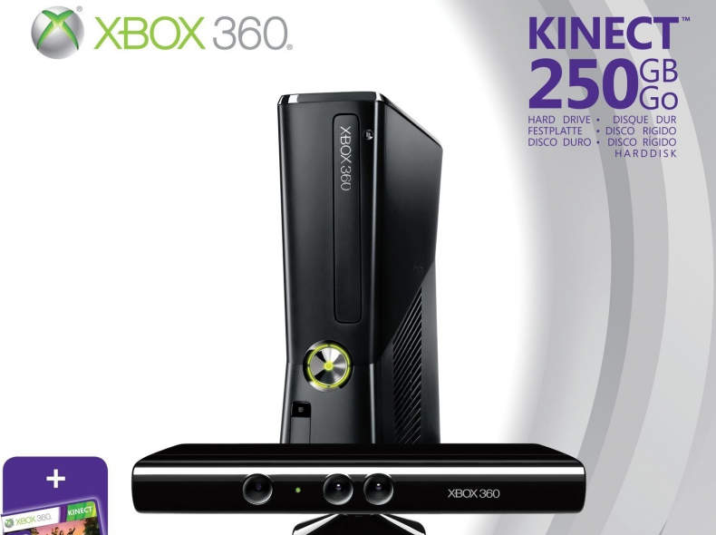 26431 Xbox 360 Kinect + Controllers + Spi