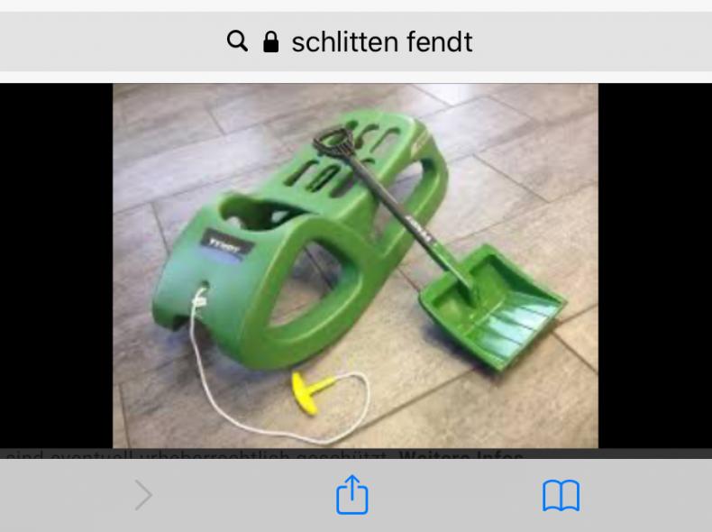 26664 Schlitten Fendt Designerstück
