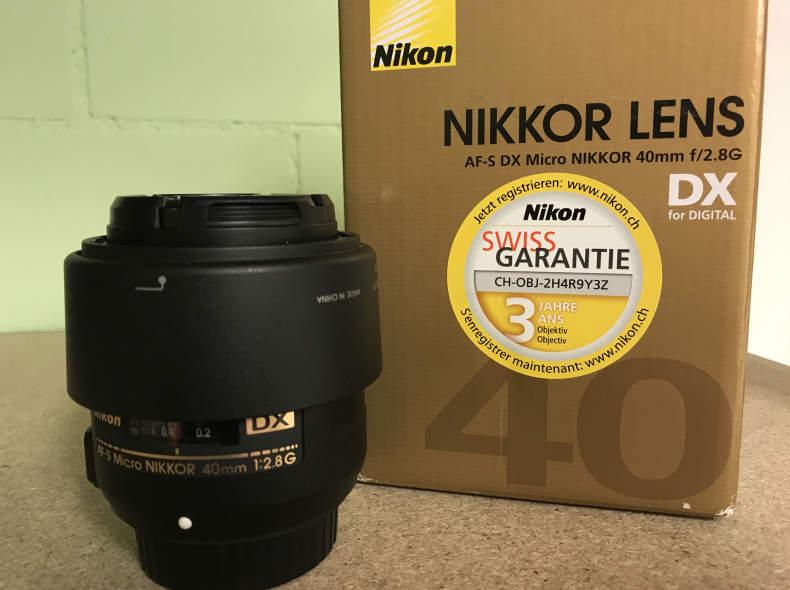26804 Nikon Makro Objektiv DX, 40 mm/2.8