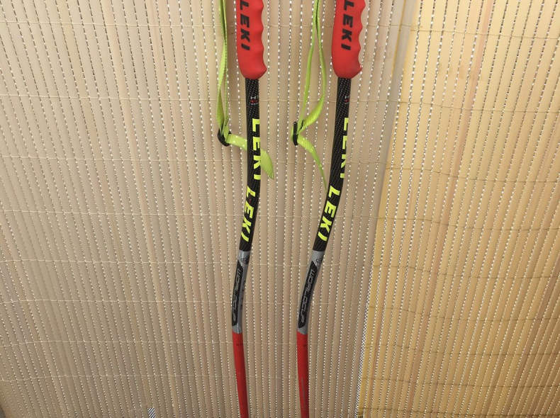 28923 Leki Skistöcke gebogen 125cm