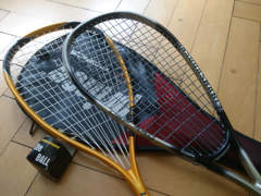 30610 2 Squash-Schläger inkl. Ball