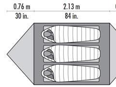 3425 Zelt (3-Saison) für 2-3 Personen