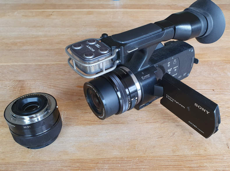 861 Video Kamera Sony Nex VG 20