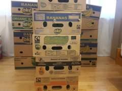 3487 5 Bananenkisten / Zügelkisten