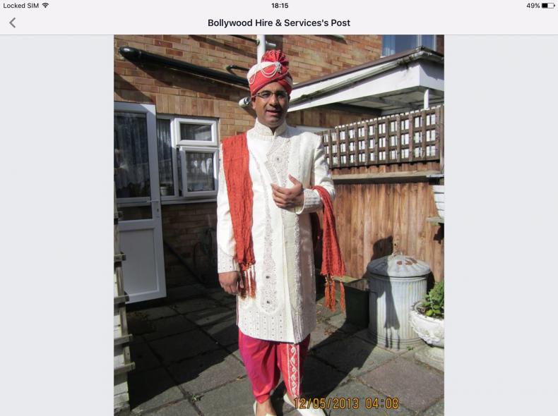 3502 Maharadja / Sindbad Kostüm / Turban