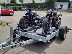 33414 Motorradanhänger für 2 Motorräder
