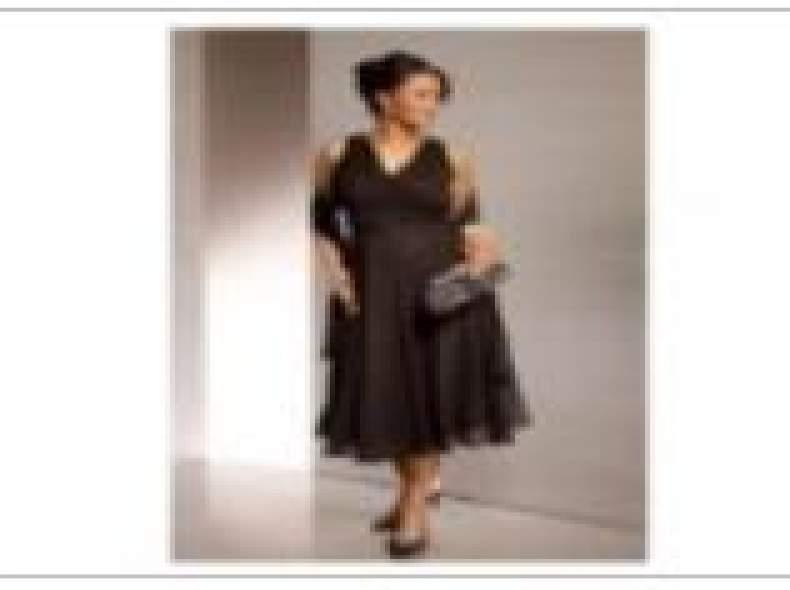 3547 Abendkleid, schwarz, Grösse 50