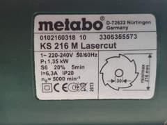 33736 METABO kipp, Kapp, Gehrungssäge