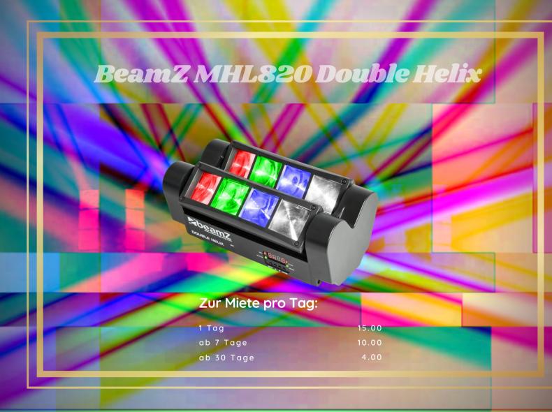 33815 Partylicht BeamZ MHL820 Double H.